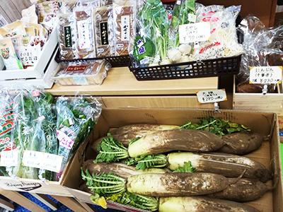 泥付き大根、かぶなどのお野菜
